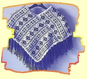 Knitted Throws Free Patterns : Poncho Patterns